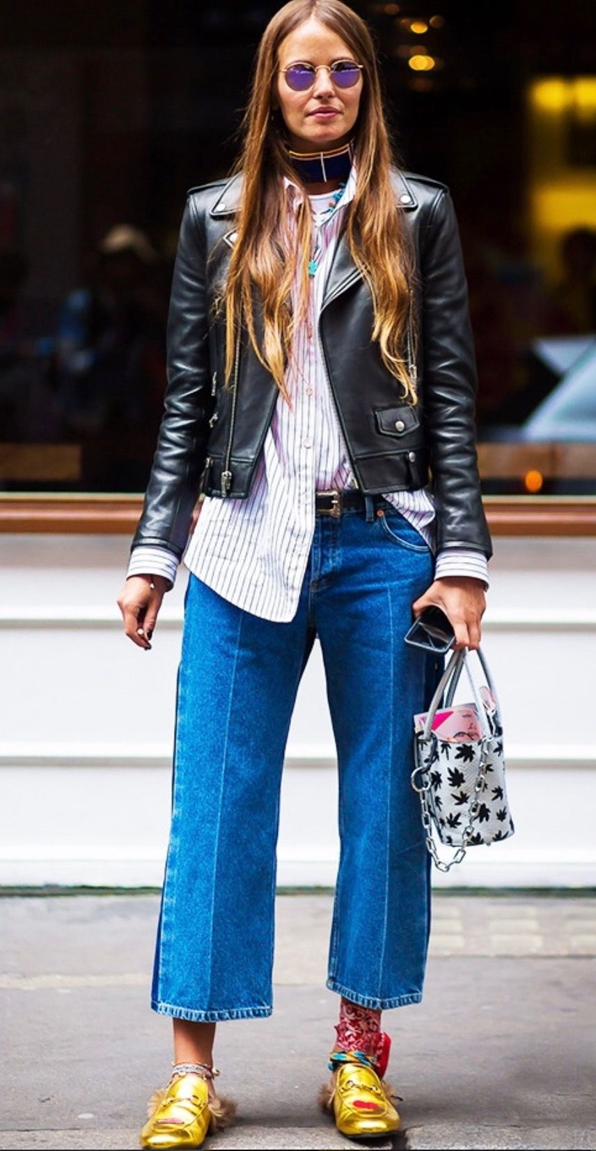 picture 21 Street Style Looks That Prove Metallic Shoes Are Always the Right Choice
