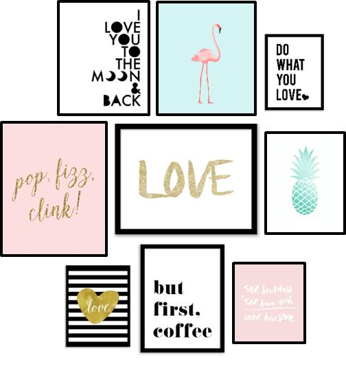 Free printables wall art 10 affiches pour changer de for Affiche deco