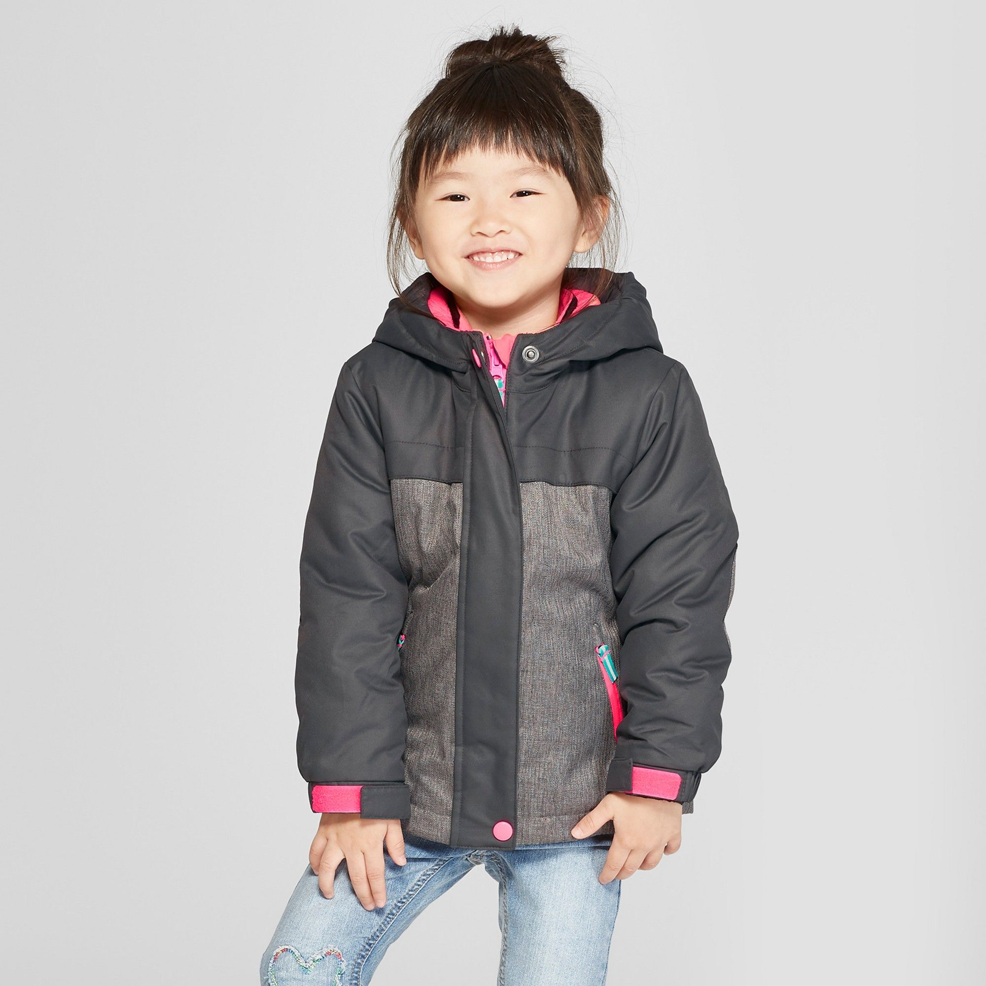 b9497a77061 Toddler Girls  Solid 3-in-1 Jacket - Cat   Jack Gray 6X