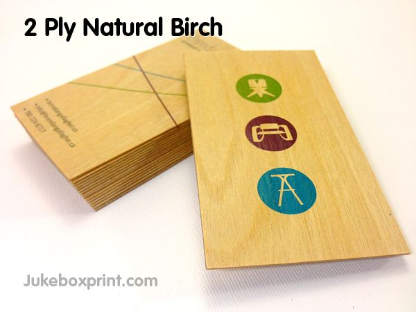 Wooden Business Cards From Jukeboxprint