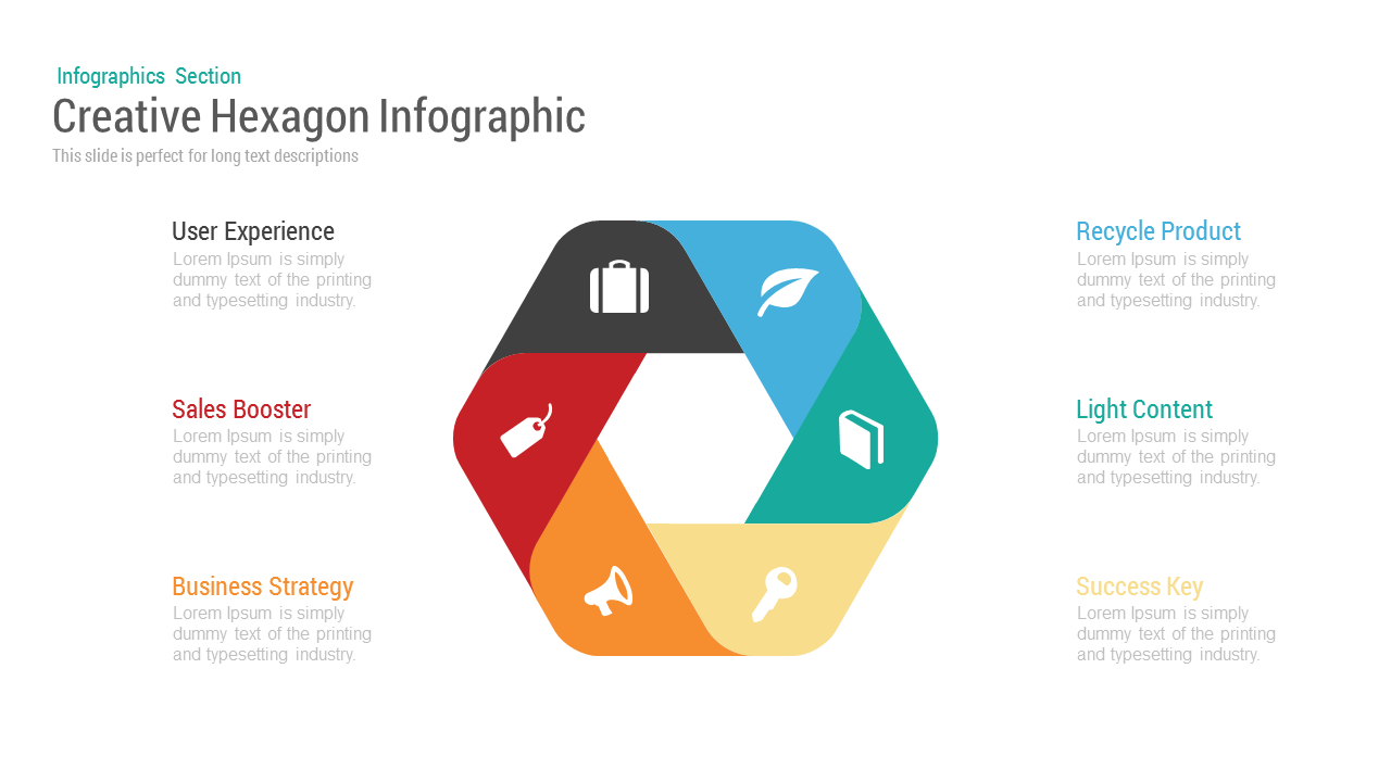 Creative hexagon infographic powerpoint and keynote template creative hexagon infographic powerpoint and keynote template toneelgroepblik Image collections