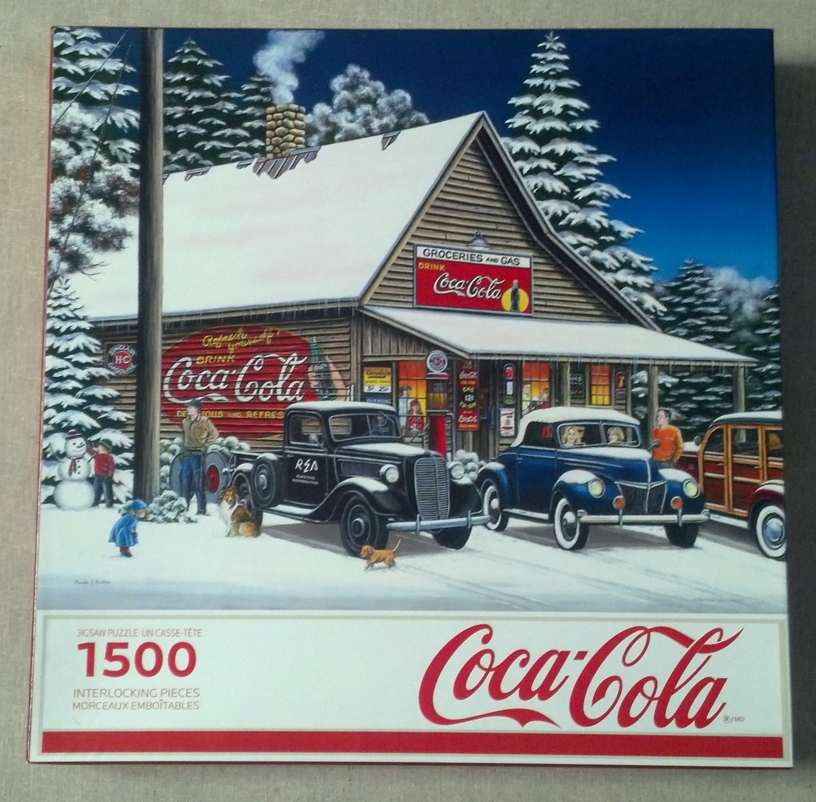 Piece Ad Coca Cola Joyful Times 1500 Piece Jigsaw Puzzle By Pamela