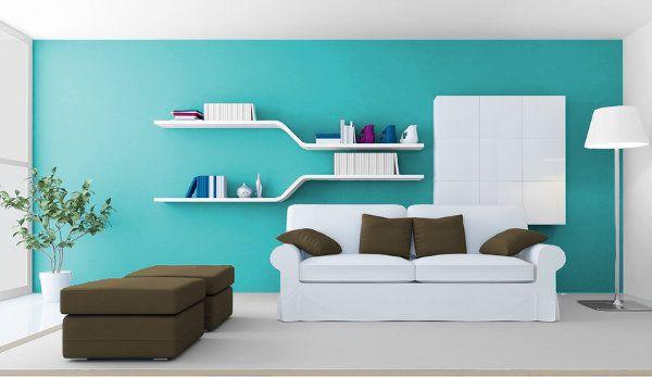 Resultado de imagen para con que color combina el azul for Pintura turquesa pared