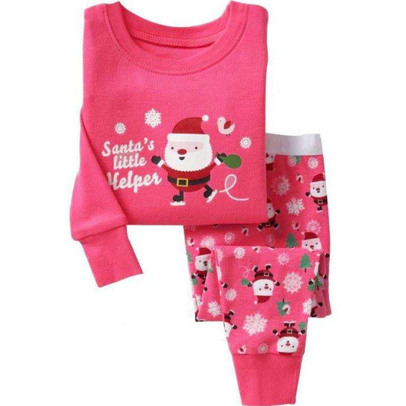 d5b0a6334 Kids Girls Christmas Pajamas Set Baby Girls Clothing Set 2-7 Ye ...