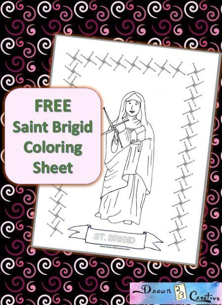 Familia Católica: Página para colorear de Santa Brígida de Kildare ...
