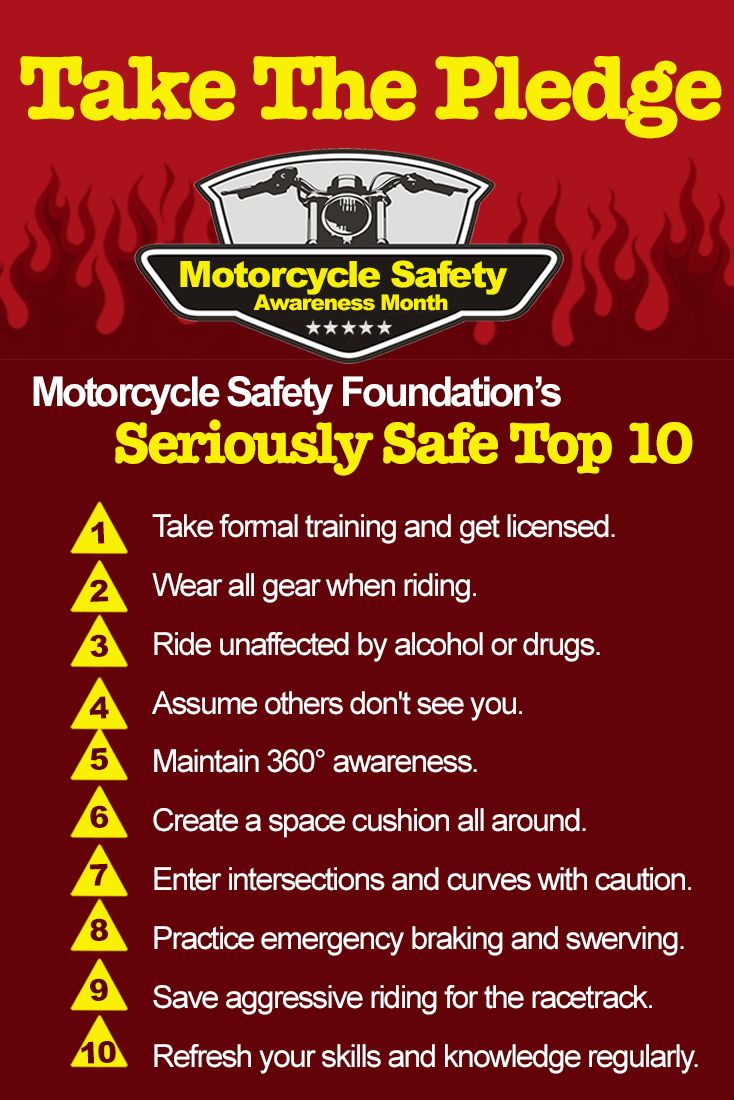 In recognition of motorcycle safety awareness month