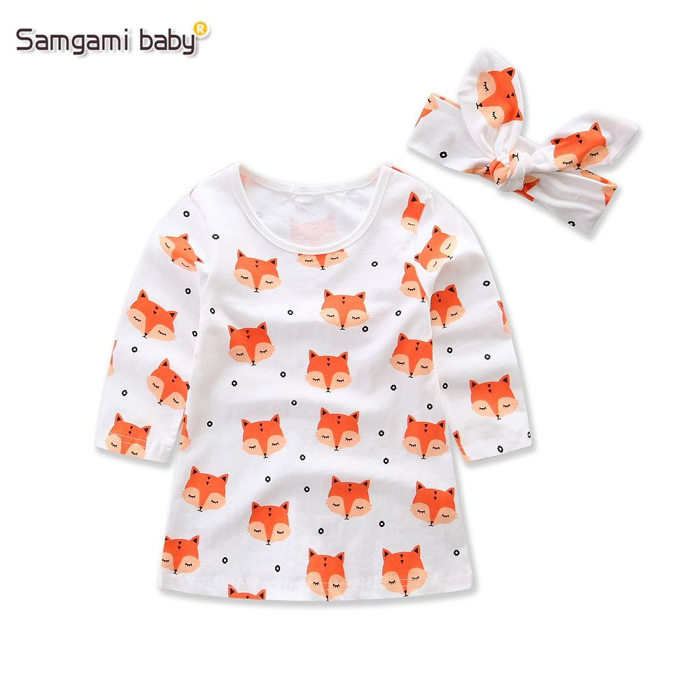 Click to Buy ucuc SAMGAMI BABY New  Cartoon Fox Printing Girls