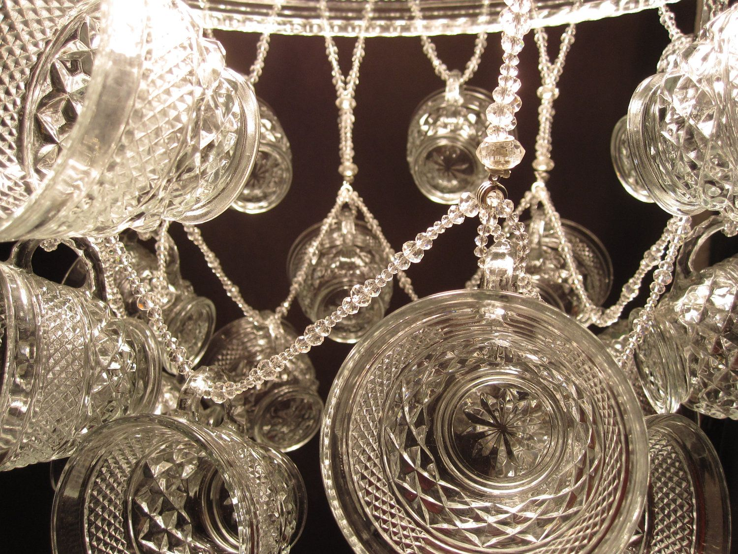 Wexford punch bowl chandelier with 18 dangling punch cups via etsy items similar to gorgeous wexford punch bowl chandelier with 18 dangling punch cups on etsy arubaitofo Choice Image