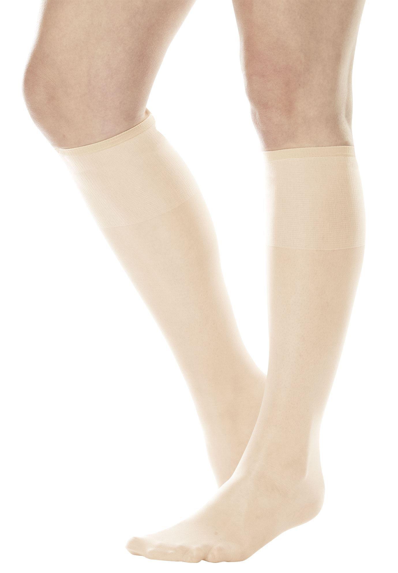 6-pack sheer nylon knee-high stockings by comfort choice - women's