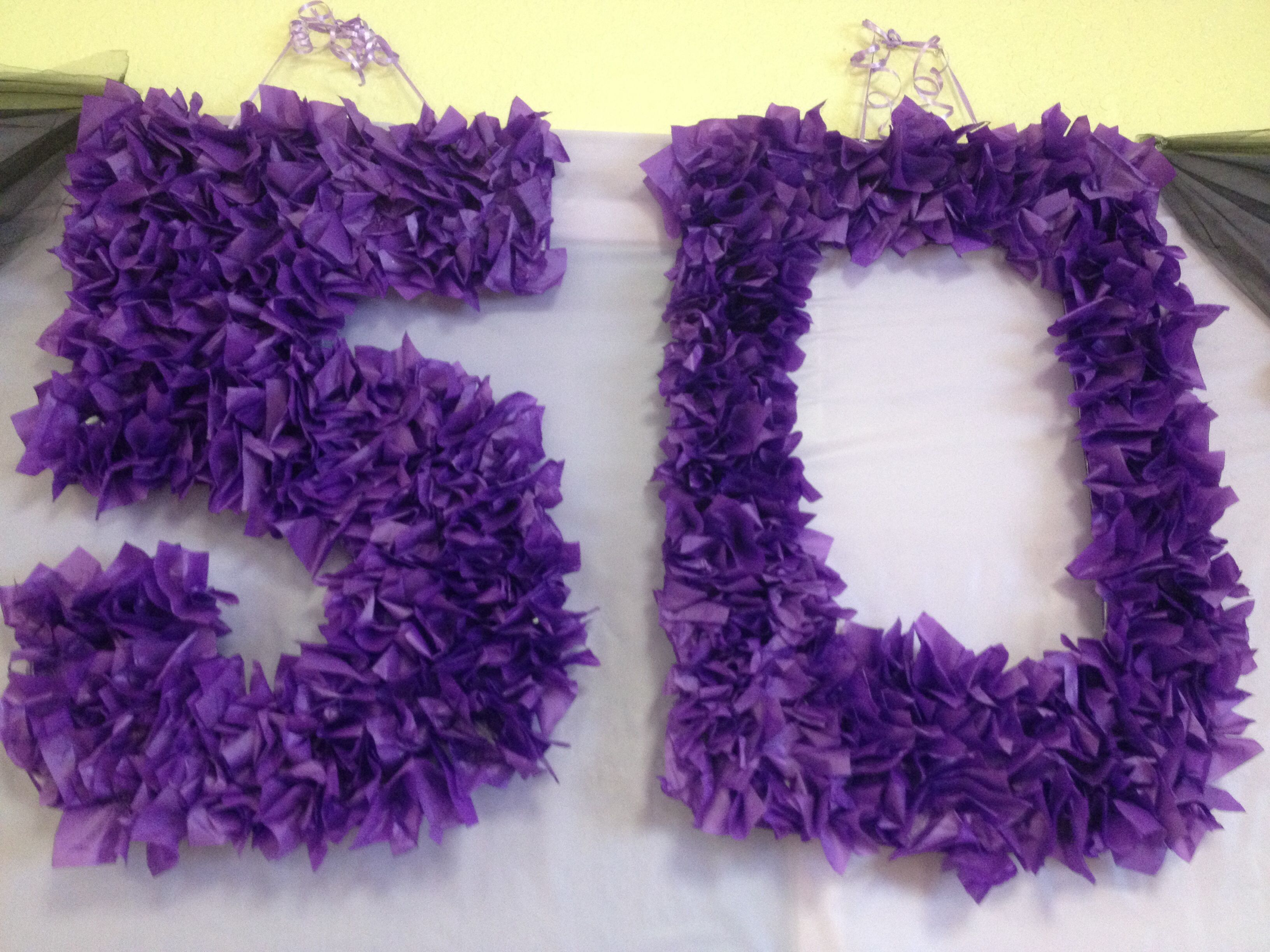 Purple 50th Birthday Party Decoration Inexpensive DIY party