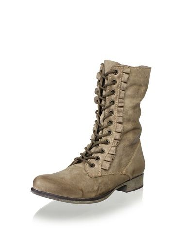 Betsey Johnson Women's Litza Laced Boot (Taupe)