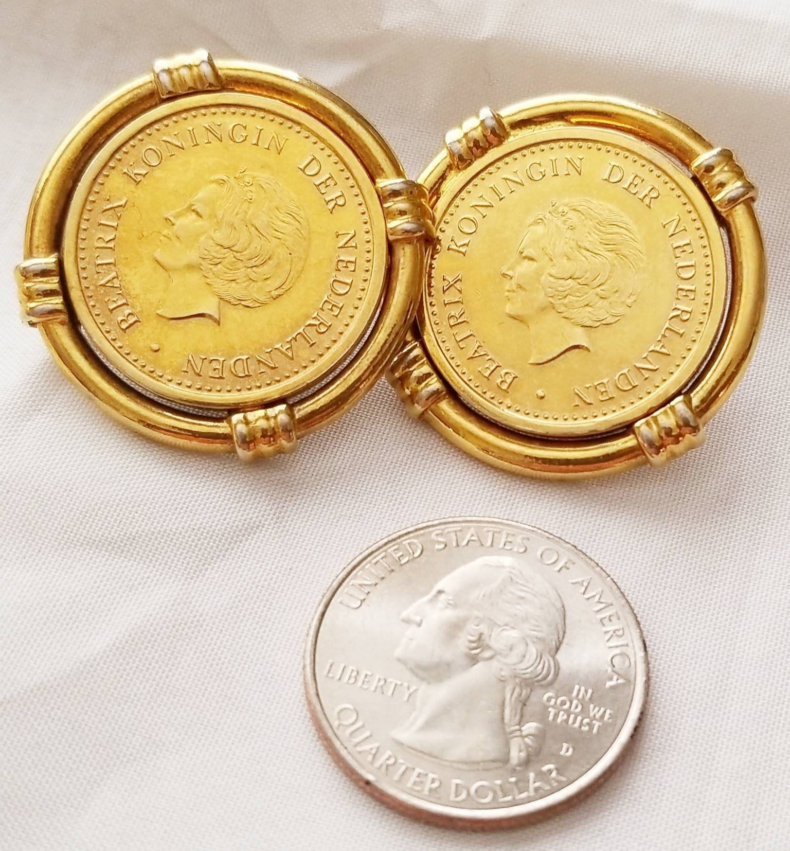 26 Grams Gold Coin Post Earrings 2