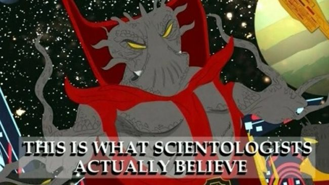 A famous 2005 episode of South Park lampooned Scientology beliefs, particularly the idea that their creation theory involves an alien warlord named Xenu, above.
