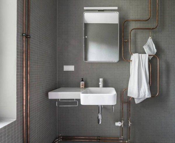 Copper pipes Bad Pinterest Rohre, Kupfer und Heizung - putz im badezimmer