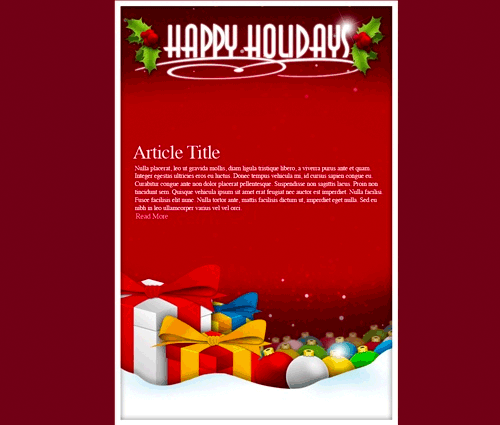 Email Holiday  Web Design  Email Blasts    Newsletter