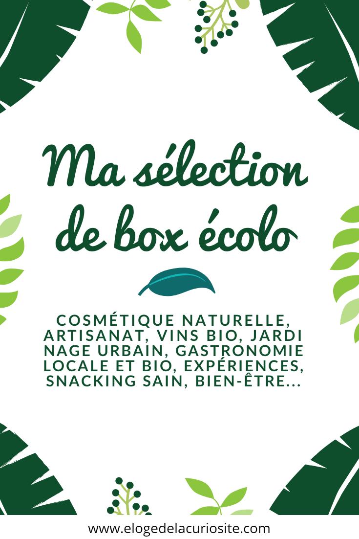 Ma sélection de box écolo biologiques, artisanales, made