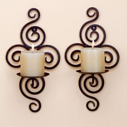 should we have candle wall sconces? Would use the battery powered ...