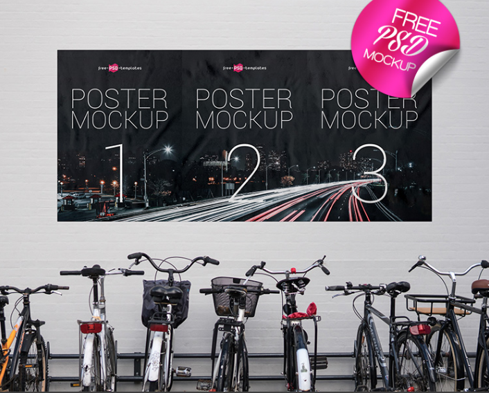 Download Street Poster Psd Mockup Available In High Resolution Poster Mockup Poster Mockup Free City Posters Design