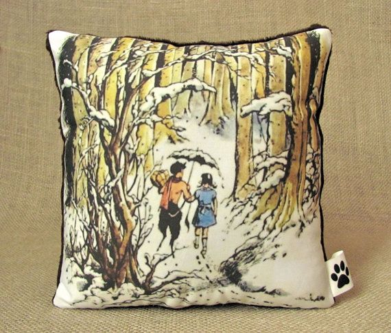 Lucy and Mr. Tumnus pillow!