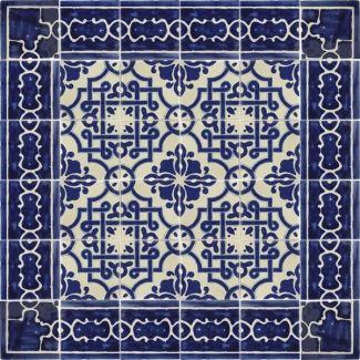 Mosaico azul talavera mexican tile rapports mosaicos for Oficina zona azul talavera