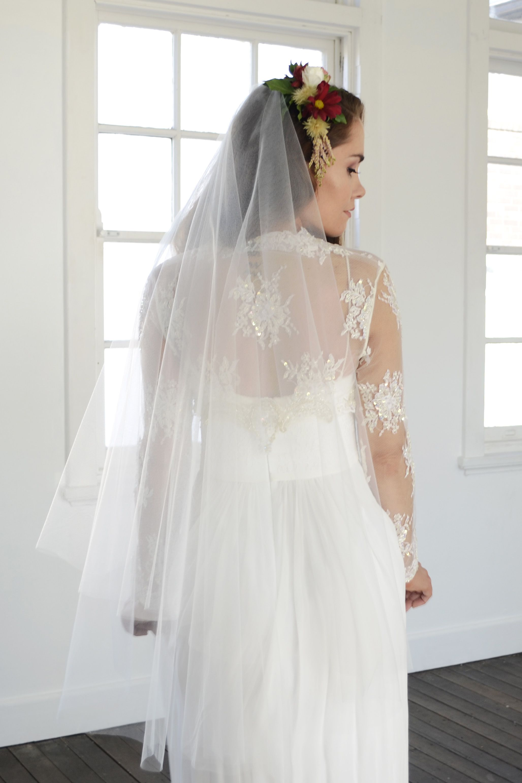 Sheer Drop Veil Two Tier Wedding Veil Two Tier Raw Edge Etsy Ivory Wedding Gown Wedding Veil Drop Veil [ 3082 x 2055 Pixel ]
