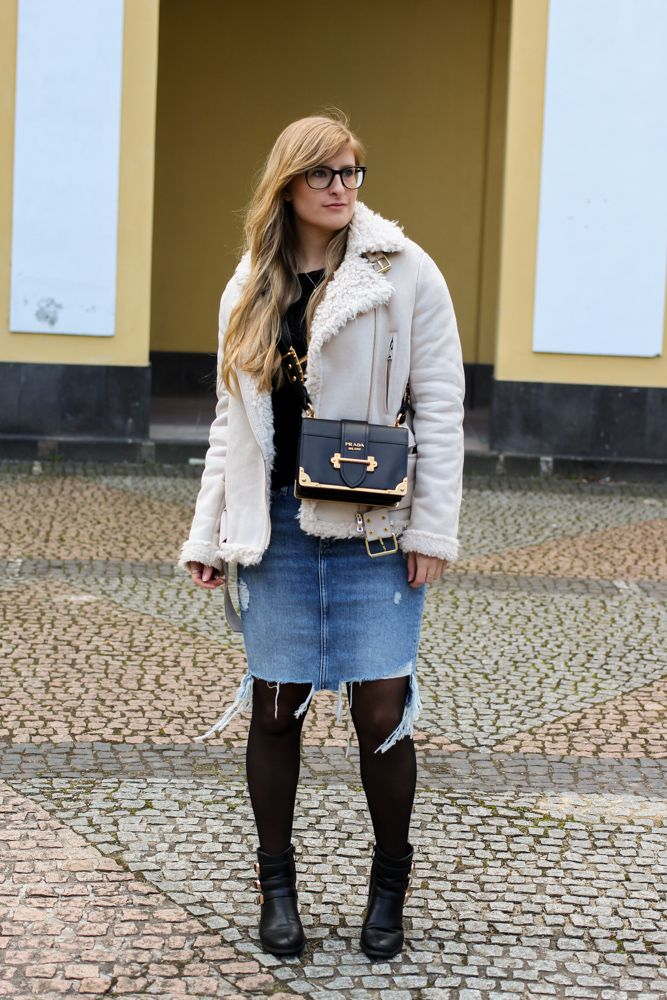 Outfit Jeansrock Winter