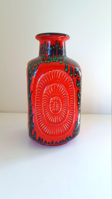 Mid century modern vintage ceramic bay keramik west german vintage ceramic bay keramik west german pottery floor vase xl with reviewsmspy