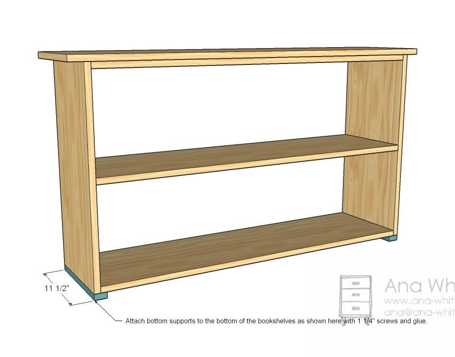 Simple Bookshelves Plan Bottom Supports Do It Yourself In 2019