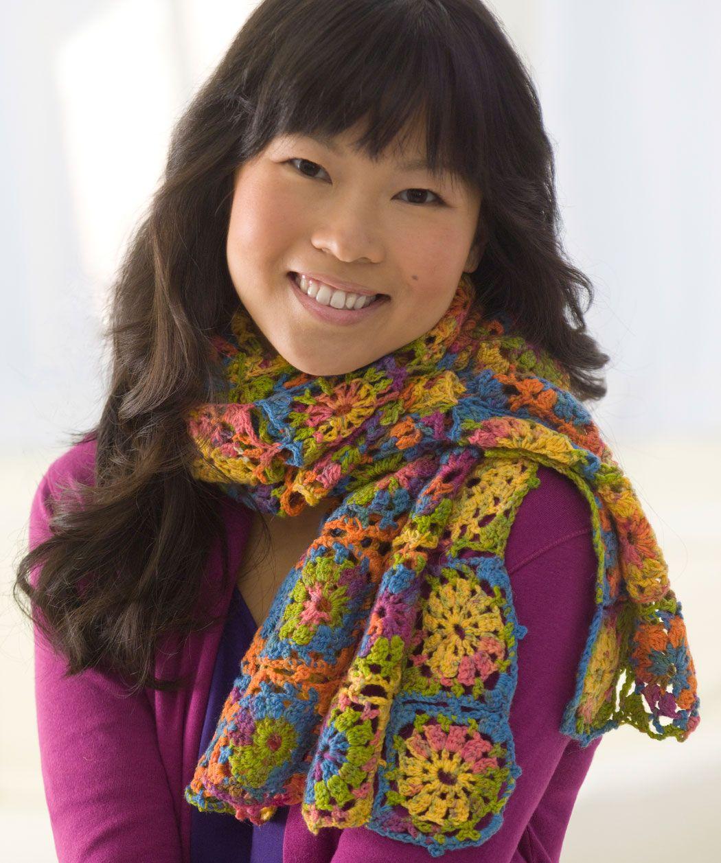 Mellow Rainbow Wrap Made from Heart & Sole sock yarn #redheartyarns ...