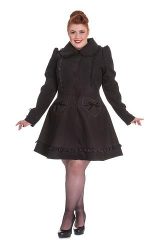 Hell Bunny Courtney Coat in Black