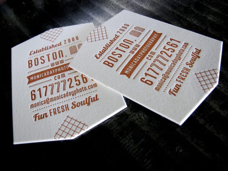 monica day photography letterpress die cut business card by braizen via mandate press