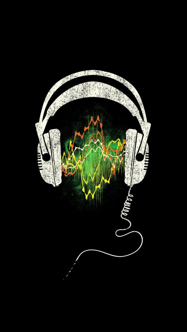 Headphones Iphone Wallpaper Black Mobile9 Papel De Parede Samsung Mascaras De Gas Papel De Parede Musical