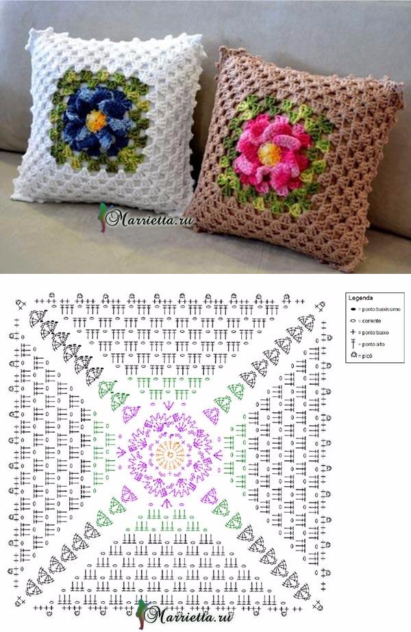 marrietta.ru   crochet squares   Pinterest   Ganchillo, Tejido y ...
