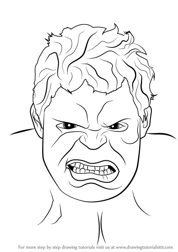 Hulk Face Drawing at PaintingValley.com | Explore