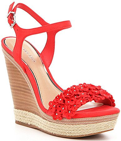 e3843742761 Gianni Bini Petall Floral Banded Leather Wedges #Dillards, saw these ...