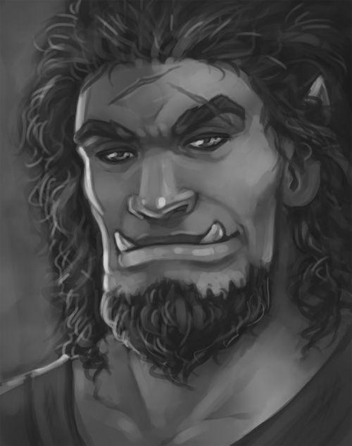Half Orc Portrait m Half Orc port...