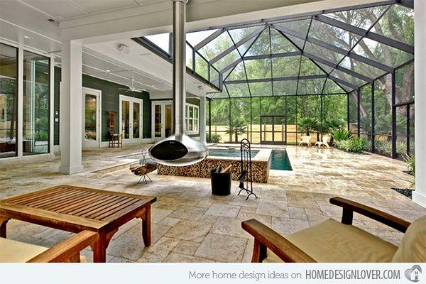 15 Stylish Pool Enclosure For Year Round Pool Usage Home Design Lover Round Pool Pool Enclosures Backyard Pool