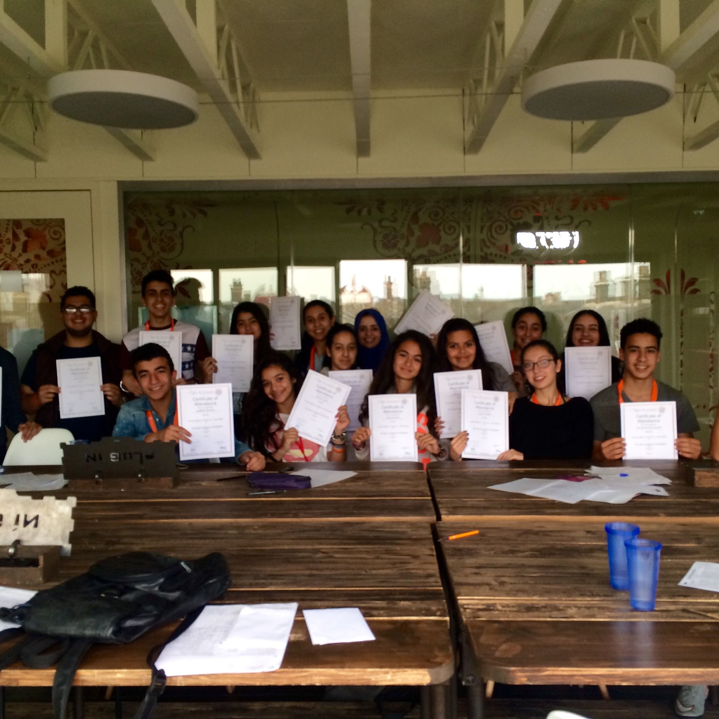 congrats to our moroccan students on getting their tsa certificates