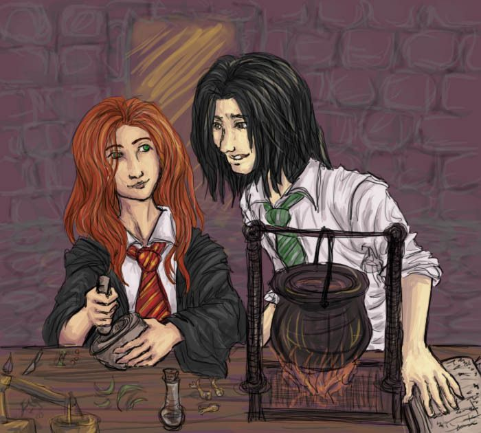 Snape and Lily - Potion class