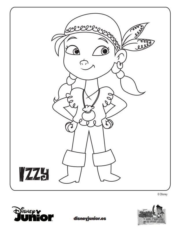 dibujo-colorear-jake-piratas-izzy.jpg (612×787) | Fiesta de piratas ...