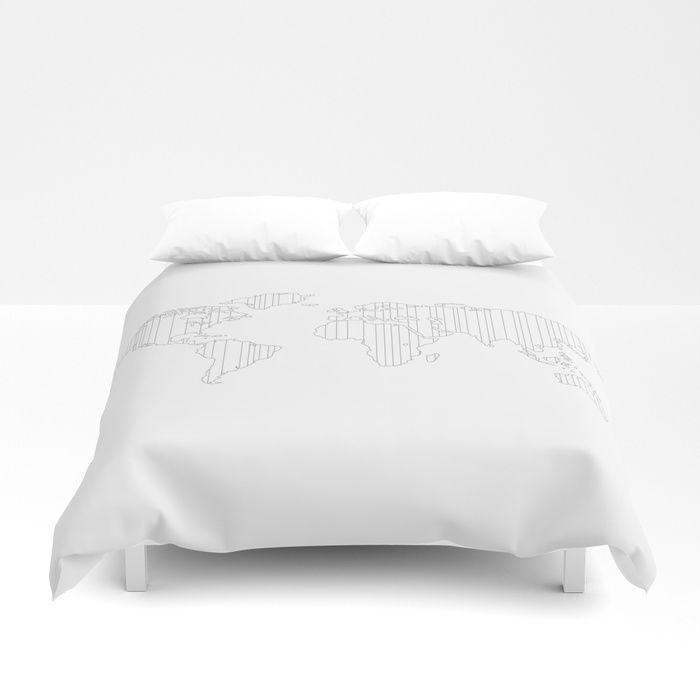 World map outlined duvet cover casa kaleidoscopio pinterest world map outlined duvet cover gumiabroncs Gallery