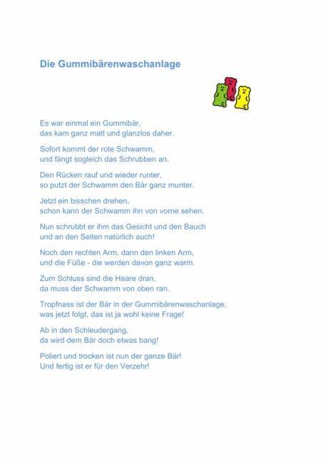 Gummibärchen Waschanlage - Reim - myofunktionelle Störung ...