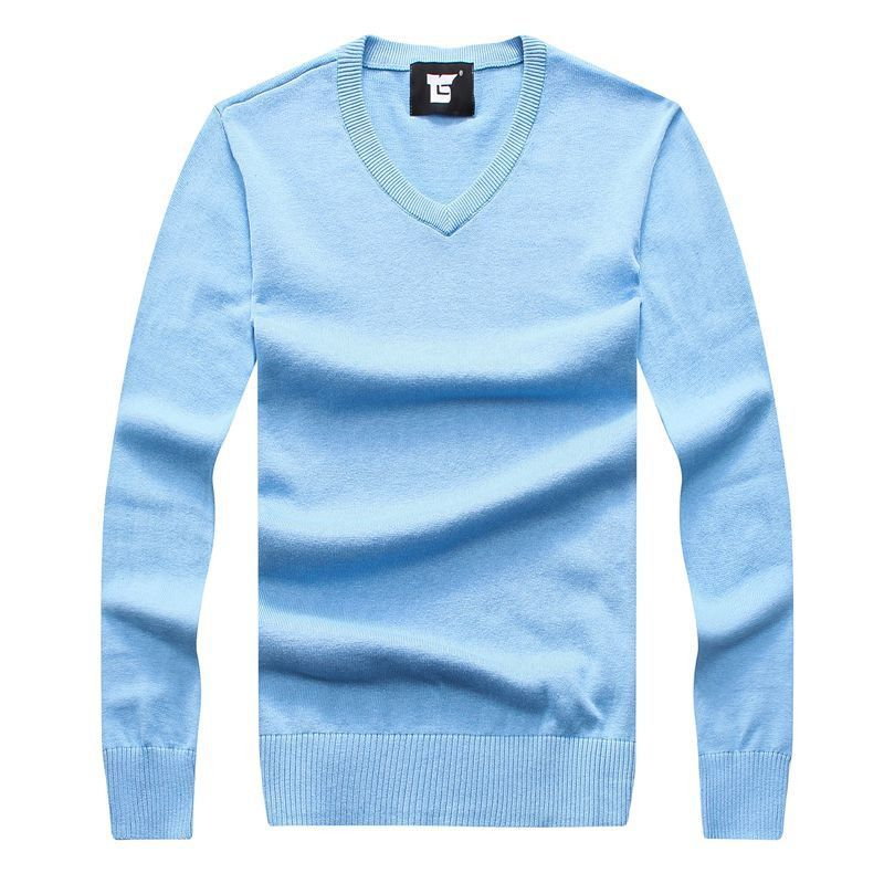 2016 Autumn Men Knitted Sweaters V-Neck Polos Jumper Men's Cotton Pullover Thin White Sweater Brand Clothing