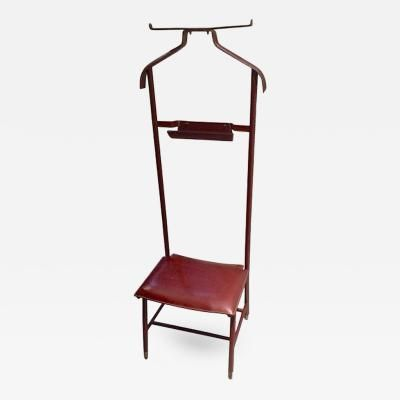 """Jacques Adnet Red Herm¨s Stitched Leather """"Valet de Nuit"""" by Jacques"""