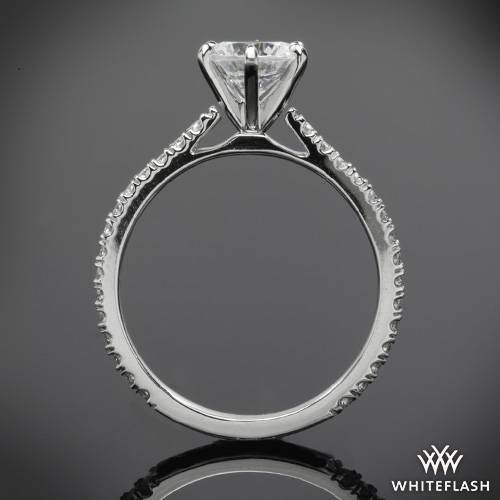 334d262f3 Cathedral Three Quarter French-Set Eternity Diamond Engagement Ring | 3590