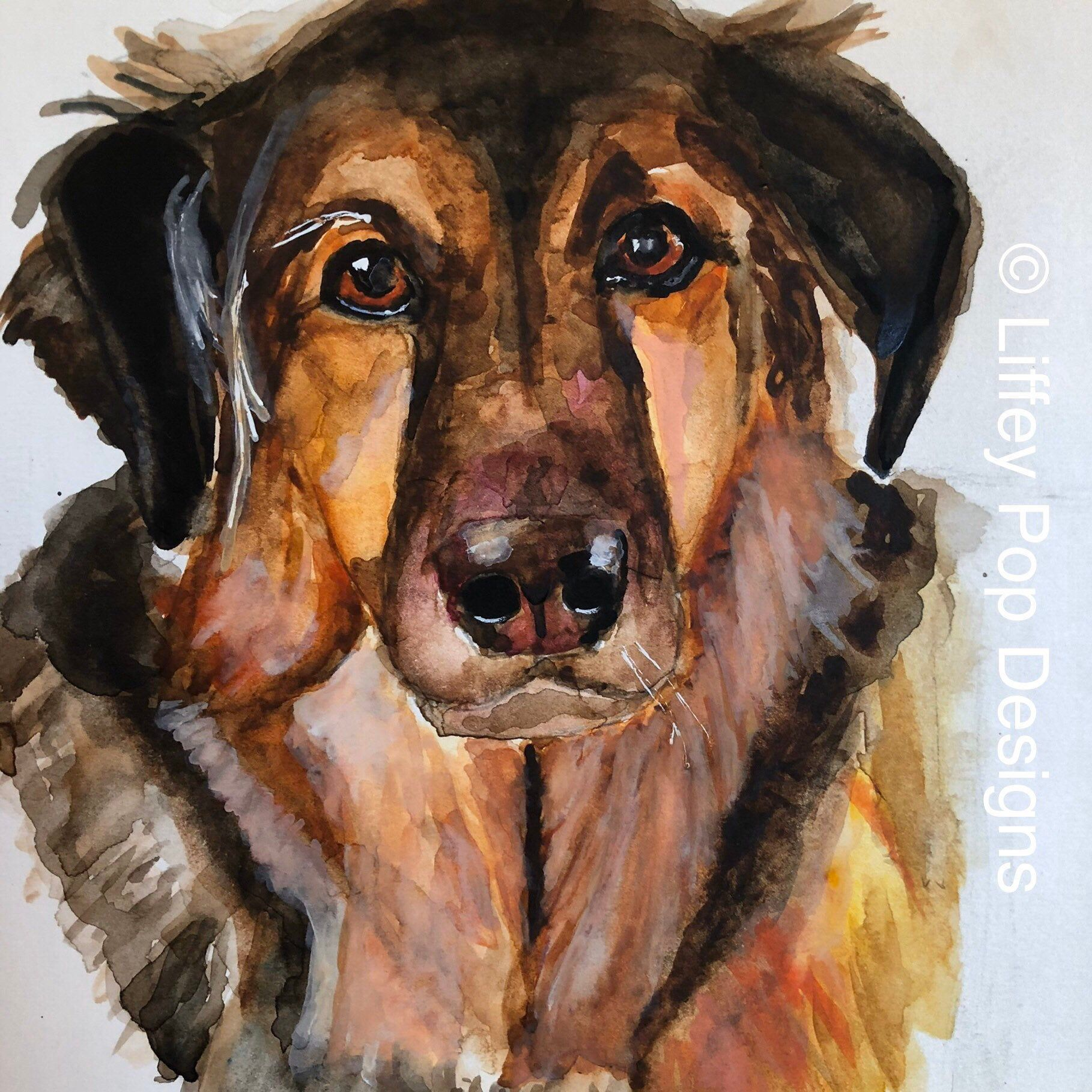 Dog Passing Gift Dog Painting Custom Dog Portrait Custom Dog