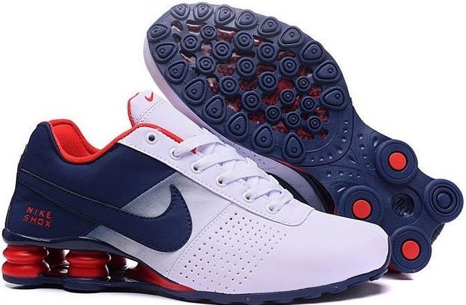 20093068234 Nike Shox Deliver Men Athletic Shoe White Blue   Red Size 10  fashion   clothing  shoes  accessories  mensshoes  athleticshoes (ebay link)