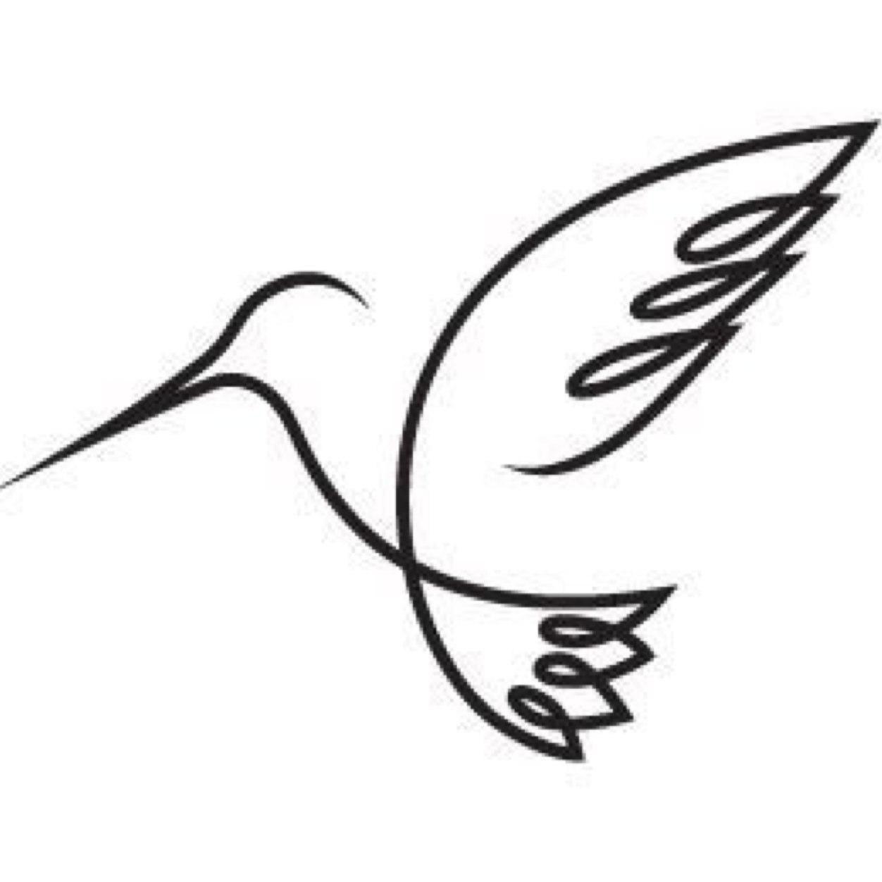 Line Drawing Hummingbird : Simple hummingbird drawing google search tattoo