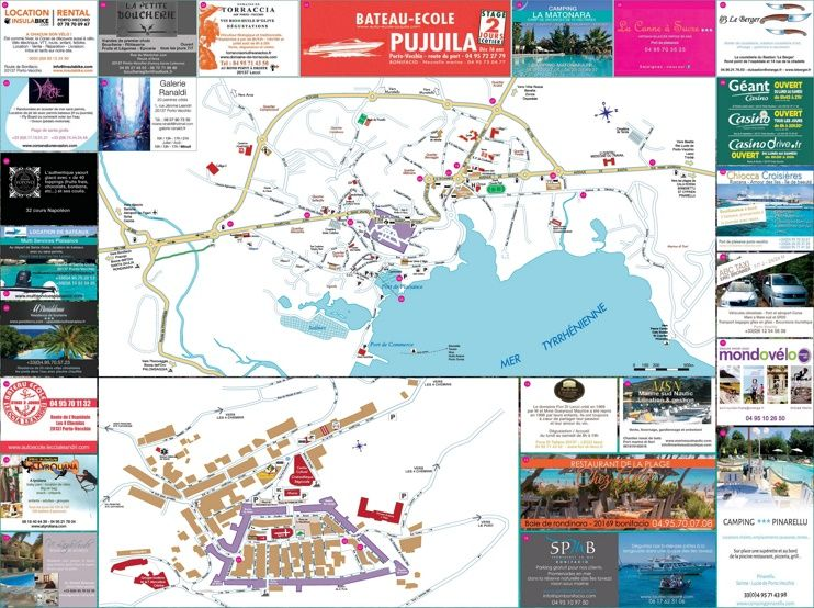 PortoVecchio sightseeing map Maps Pinterest Porto France and