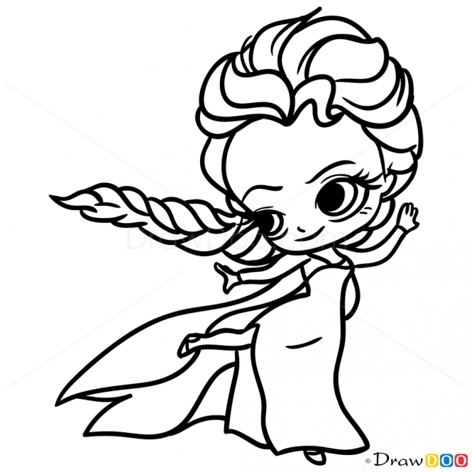 How To Draw Elsa Chibi Free Disney Coloring Pages Disney Princess Coloring Pages Disney Coloring Pages